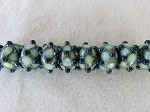 Sweet Dots of Ivory-C Green ($6.00 Per Bead)