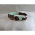 5mm Flat Leather Bracelet-Pretty Copper