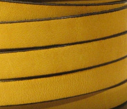 10mm Flat Leather-Mustard ($.50 an inch)