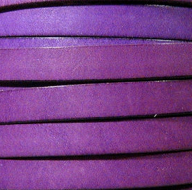 10mm Flat Leather-Purple ($.50 an inch)