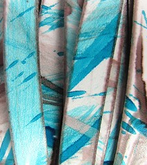 10mm Flat-Printed Colors-Turquoise & Bronze ($.50 Per Inch)