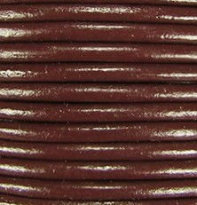 1mm Round Indian Leather-Coffee Brown ($2.00 Per Yard)