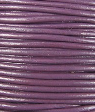 1mm Round Indian Leather-Violet ($2.00 Per Yard)