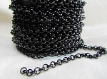 4.8mm Rolo Chain-Nite Black Shiney ($3.00 Per Foot)