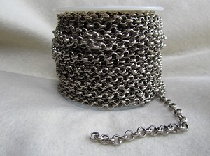 4.8mm Rolo Chain-Antique Silver ($3.00 Per Foot)