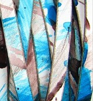 5mm Flat Printed Colors Ornate Brown-Turquoise($.25 per inch)