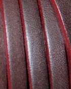 5mm Plain Flat Leather- Brown Burgandy ($.25 per inch)