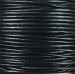 1.5mm Round Indian Leather-Black ($2.00 per yard)