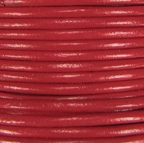 2mm Round Indian Leather-Brick Red ($2.00 per yard)