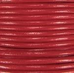 1.5mm Round Indian Leather-Brick Red ($2.00 per yard)