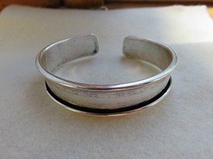 10mm Glue-In Cuff Antique Silver