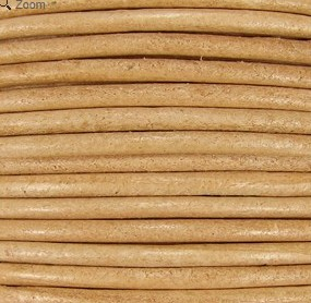 2mm Round Indian Leather-Cream ($2.00 per yard)