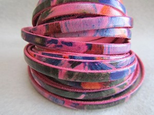 10mm Flat Watercolor-Floral Pink ($.50 per inch)