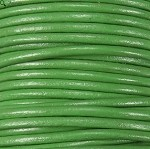 1.5mm Round Indian Leather-Green ($2.00 per yard)