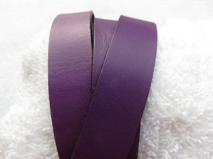 20mm Flat Leather Deep Purple ($.50 an inch)