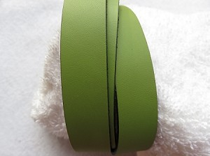 20mm Flat Leather Olive Green ($.50 an inch)