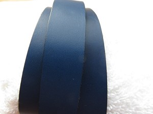20mm Flat Leather Electric Blue ($.50 an inch)