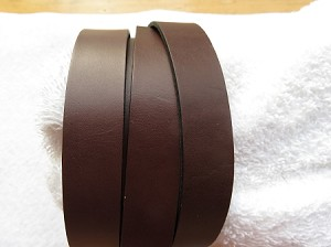 20mm Flat Leather Chocolate ($.50 an inch)