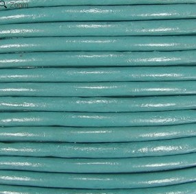 1.5mm Round Indian Leather-Light Turquoise ($2.00 per yard)