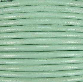 2mm Round Indian Leather-Mint ($2.00 per yard)