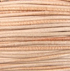 2mm Round Indian Leather-Natural ($2.00 per yard)