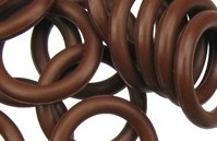 12mm Rubber O-Ring-Chocolate Brown ($.20 each)