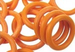 12mm Rubber O-Ring-Tangerine ($.20 each)