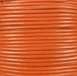 1.5mm Round Indian Leather-Orange ($2.00 per yard)