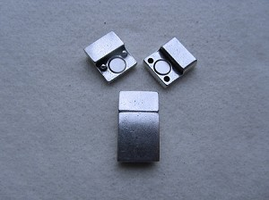 10mm Flat Leather Clasp-Rectangle