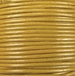 1.5mm Round Indian Leather-Yellow ($2.00 per yard)