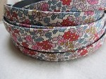 10mm Flat-Flowered Fabric-Red Daisy ($.50 per inch)