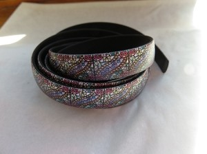 10mm Flat Leather-Waves of Color ($.50 an inch)