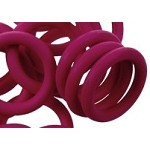 12mm Rubber O-Ring-Cranberry ($.20 each)